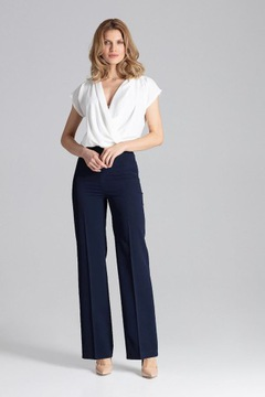 Eleganckie spodnie w kant w Spodnie damskie Moda damska na