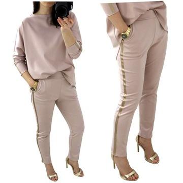 Spodnie z lampasem w Eleganckie spodnie damskie Moda