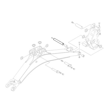 KUBOTA RG138-66564 Шкворень стрелы экскаватора KX018