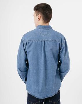H&M koszula jeansowa dżinsowa jeans jasna napy Vinted