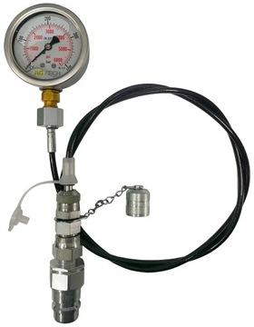 Комплект для измерения давления в гидросистеме, евроразъем