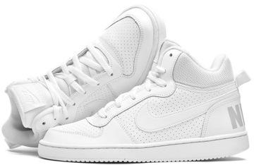 Białe buty Nike ze złotym znaczkiem ocieplane za kostkę . Rozmiar 37,5.
