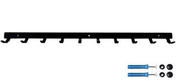Настенная вешалка для гаража мастерской 10 крючков 60см