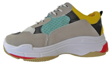 Moro ugly sneakers buty sportowe na grubej podeszwie adidasy bloggerskie