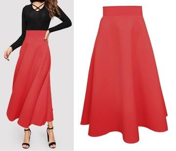 Długa czerwona spódnica w Spódnice i spódniczki Moda