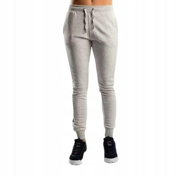 FILA Granatowe welurowe spodnie dresowe z kieszeniami
