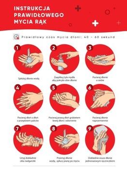 Инструкции по мытью рук Стикеры ВОЗ OHS 15 шт.