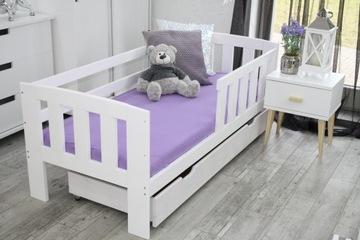 Деревянная детская кровать MAJA 70x160 WHITE + STE