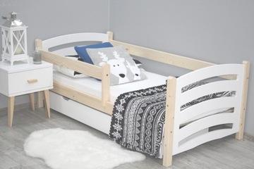 Кровать детская деревянная МЕЛА 80x160 сосна белая
