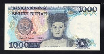 Индонезия 1000 RUPIAH P-124 UNC 1987 серии PCN