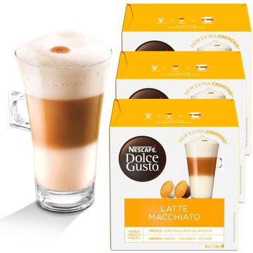 Dolce Gusto Latte Macchiato 48 капсул кофе 3x16