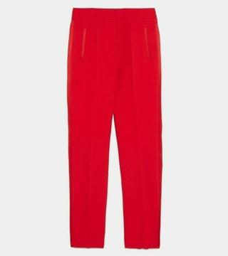 ZARA nowe cygaretki czerwone w Eleganckie spodnie damskie