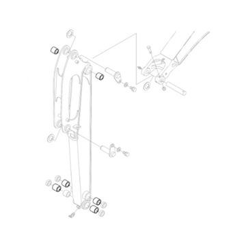 KUBOTA 69421-66520 Втулка рычага экскаватора KX018