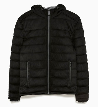kurtka zamszowa pikowana