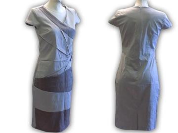 Sukienka damska ASIA MIDI zapinana na guziki S XL 028