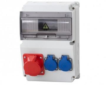 Комплект питания распределительного устройства 16A / 5P 2X230V + 10MODIP66