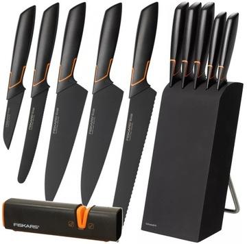 Набор из 5 ножей в КРАЙНОМ блоке FISKARS WITH BLADE 1003099