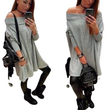 Victoria's secret sweter tunika cudny okazja | Ubrania