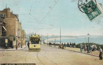ЛЕ-ХАВР. ЛЕ БУЛЬВАР МАРТИМ. 1909. ТРАМВАЙ.