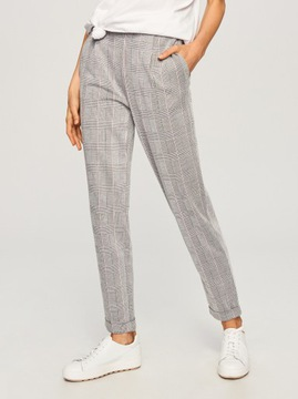 Reserved Spodnie damskie cygaretki (średni stan) Allegro