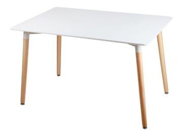Прямоугольный кухонный стол в скандинавском стиле