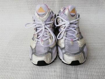 Adidas Adiprene Srebro Białe Różowe Trampki Damskie Buty Sz