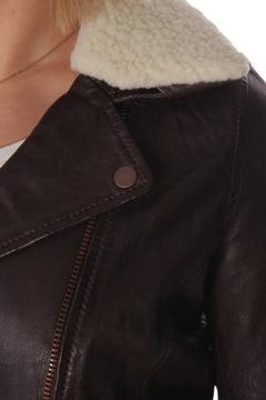 bronzowe nie skórzane kurtki