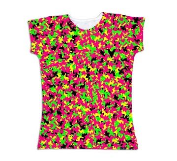 Rozowy neonowy neon t shirt koszulka r . M Wrocław Stare
