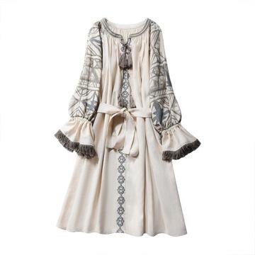 Bawełna haftowana w Sukienki Moda damska na Allegro.pl