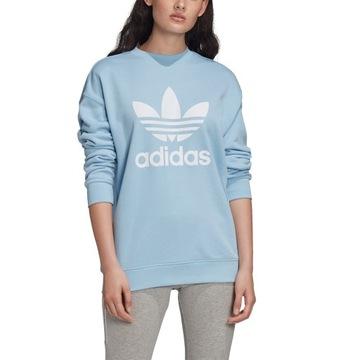 adidas bluza niebieska damska
