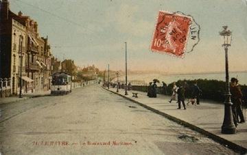 ЛЕ-ХАВР. ЛЕ БУЛЬВАР МАРТИМ. 1907. ТРАМВАЙ.