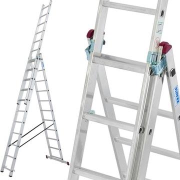 Лестница алюминиевая KRAUSE 3x11 CORDA 7.25м 030429