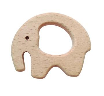 1 деревянный прорезыватель слона