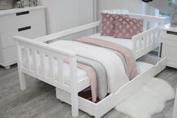 Деревянная детская кровать ASIA 80x160 белый каркас