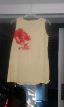 Koszulka bluzka na ramiączkach Reserved L żółta