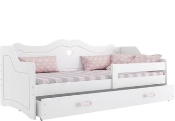 Кровать детская ЛИЛИ 160x80 белая Юлия + матрас