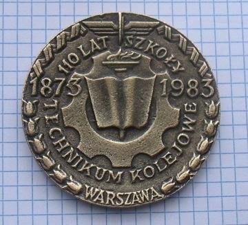 медаль 110 лет Железнодорожному техникуму