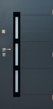 София 01 входная дверь, стекло антрацит 90