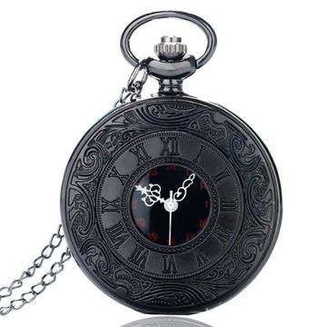 Zegarek naszyjnik na łańcuszku steampunk
