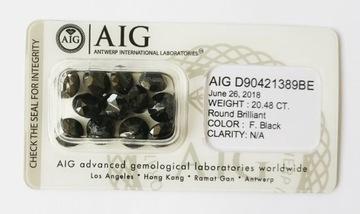 Купить Натуральный бриллиант 12 шт. 20,48 карата. Сертификат AIG на Otpravka - цены и фото - доставка из Польши и стран Европы в Украину.