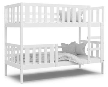 Кровать двухъярусная НЕМО белый + матрасы
