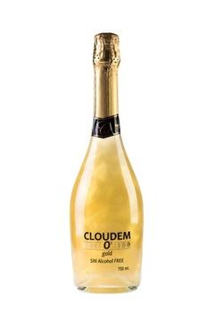 Напиток газированный Cloudem безалкогольный глиттер золотой0%