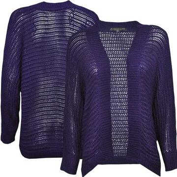 Sweter ażurowy NEXT paski w Swetry damskie Allegro.pl