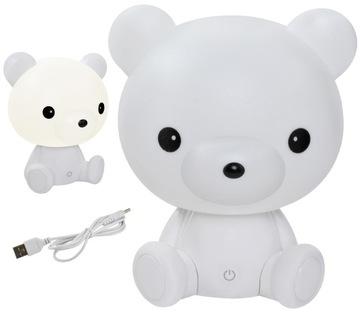 Прикроватная лампа для детей Teddy Bear 25см, 3 режима LED