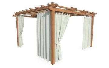 Садовая штора для террасной беседки, светло-серая 155х220