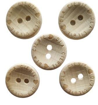 Пуговицы деревянные 15 мм 2 отв. Для вас 5 шт.