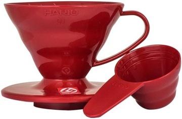 HARIO Plastic Drip V60-01 Красная капельница