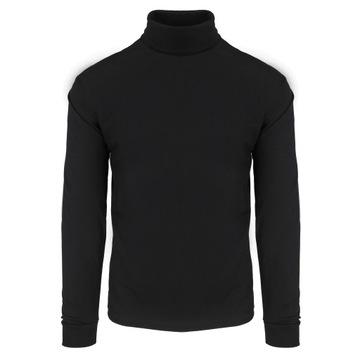 Golf męski 100% bawełna czarny rozmiar XXL