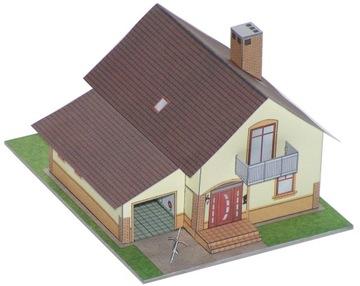 Model na makietę_Дом с гаражом_ExtraModel 1: 120 TT