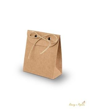 Подарочная коробка, пакет 3х6х7см- крафт